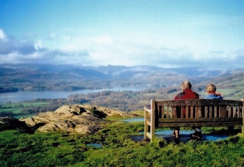 オレストヘッドから望むウィンダミア湖