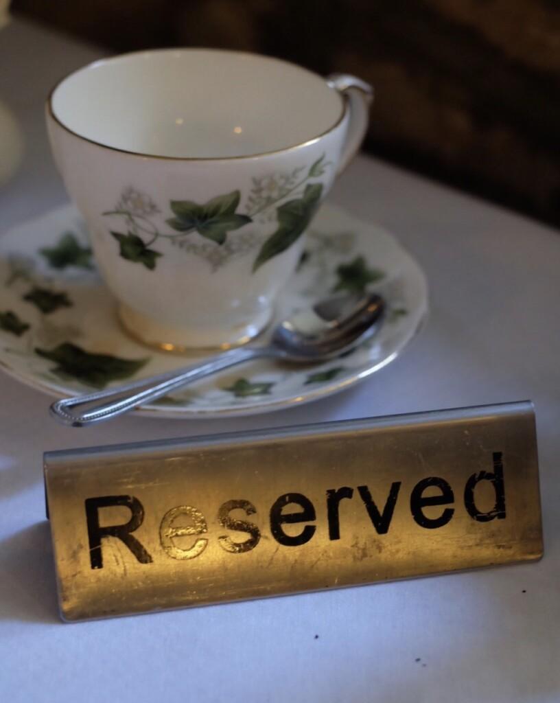 『The Bridge Tea Rooms』の予約席