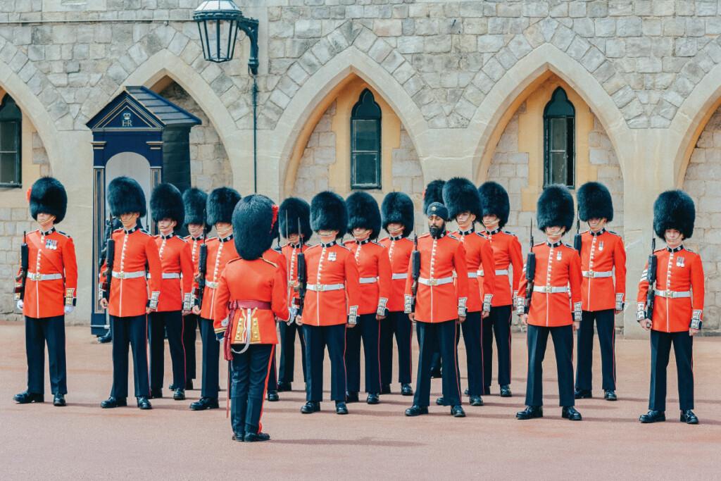 ウィンザー城の衛兵交代式