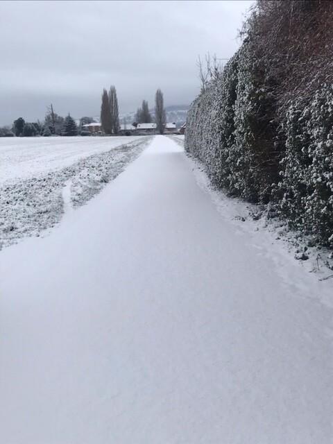 コッツウォルズ地方の雪景色