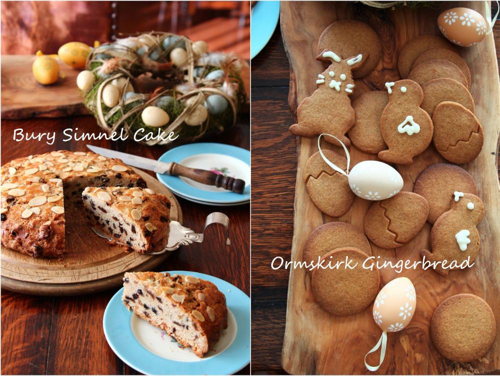 イギリス菓子教室、3月レッスンの「ベリーシムネルケーキ」と「オームスカークジンジャーブレッド」