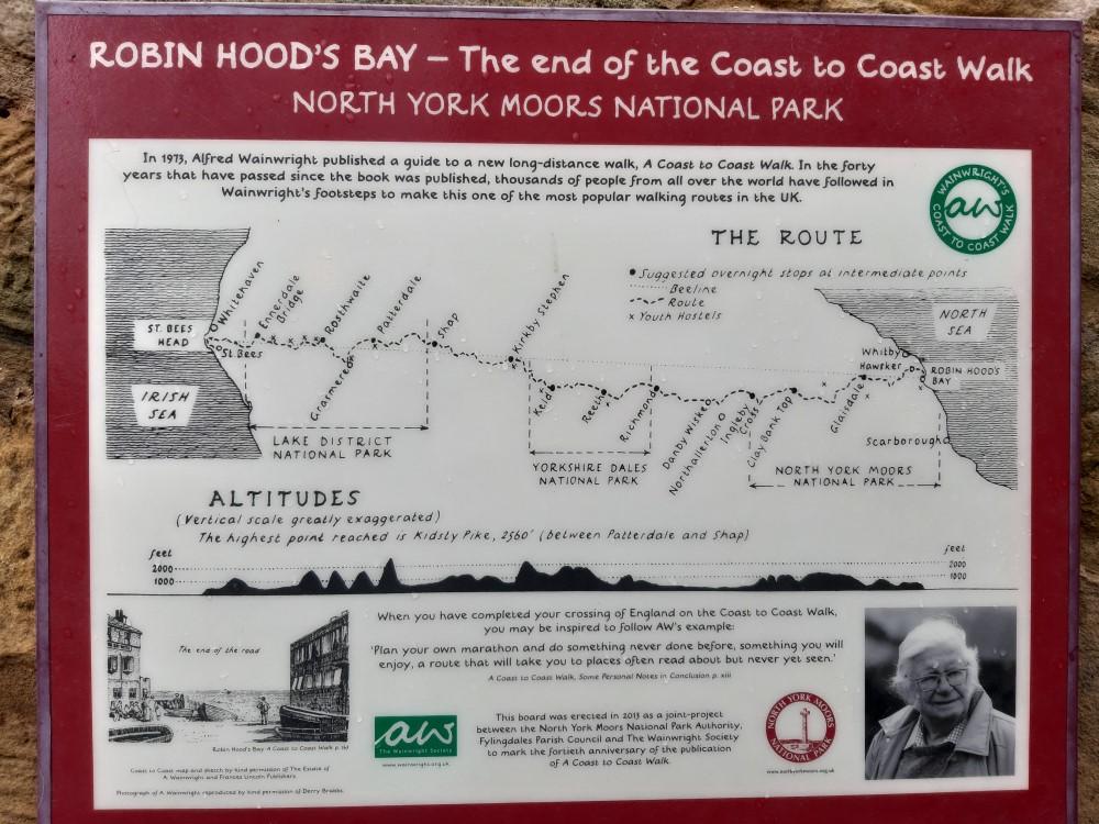 ロビン・フッド・ベイは「Coast to Coast Walk」の東側の終着点