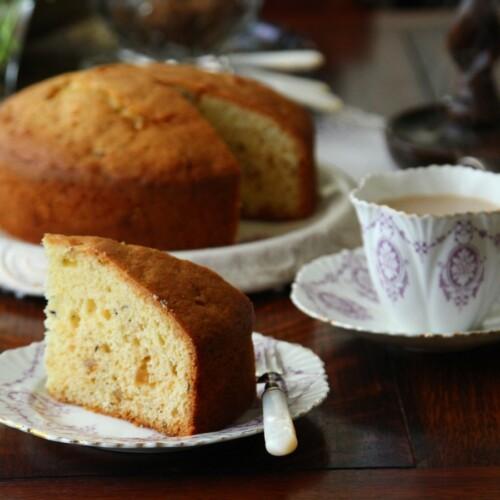 シードケーキと紅茶