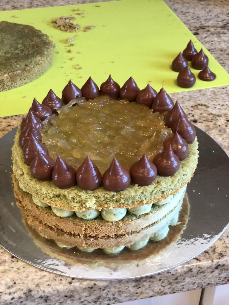抹茶のヴィクトリアサンドイッチケーキ
