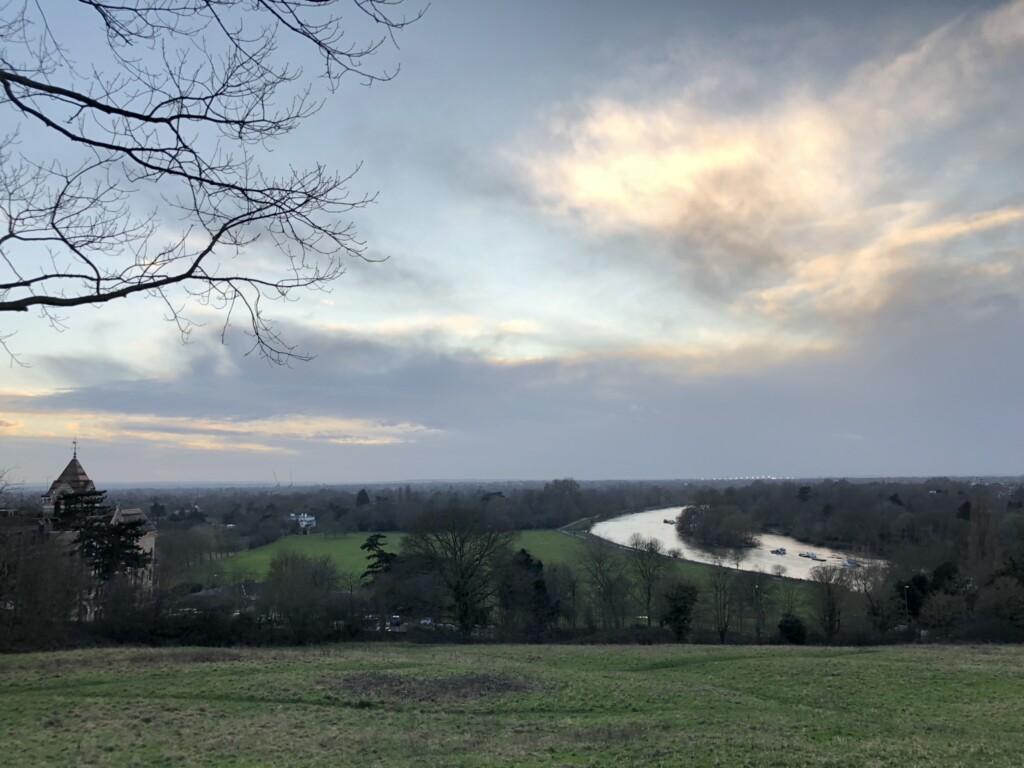 リッチモンドヒルからの冬の景色
