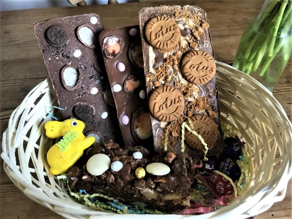 ミニエッグの入ったチョコレートバー