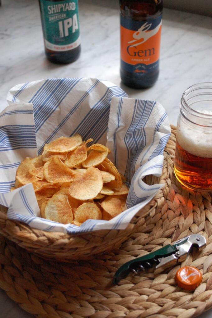 手作りクリスプスとイギリスクラフトビール