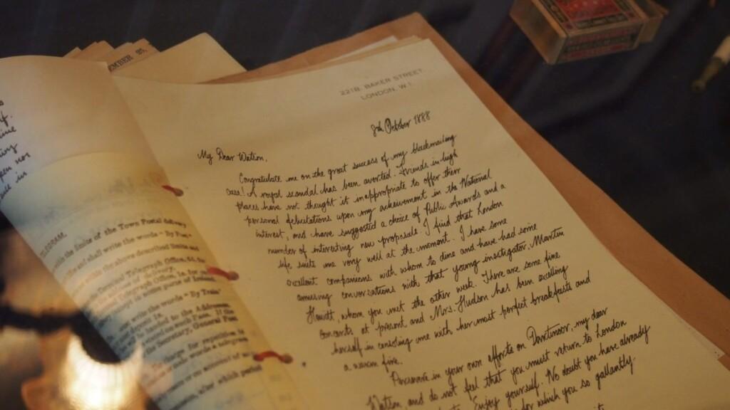ホームズがワトソンに宛てて書いた手紙