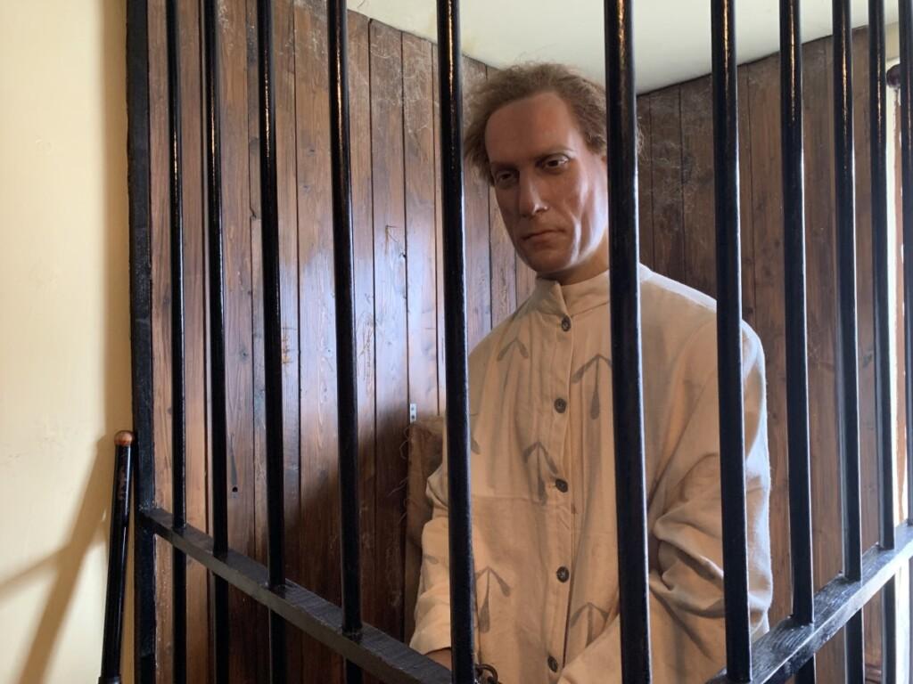 4階の蝋人形ゾーン ロリア・スコット号に乗船する囚人のジャック・プレンダーガスト
