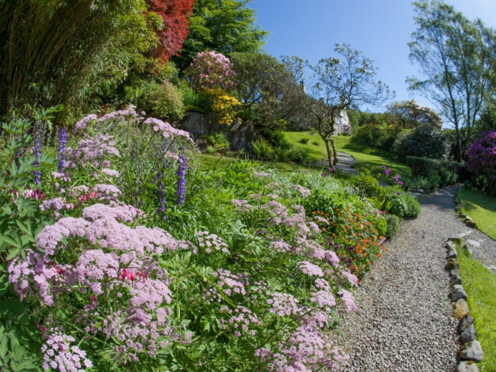 ライダルマウントの庭園に咲く花