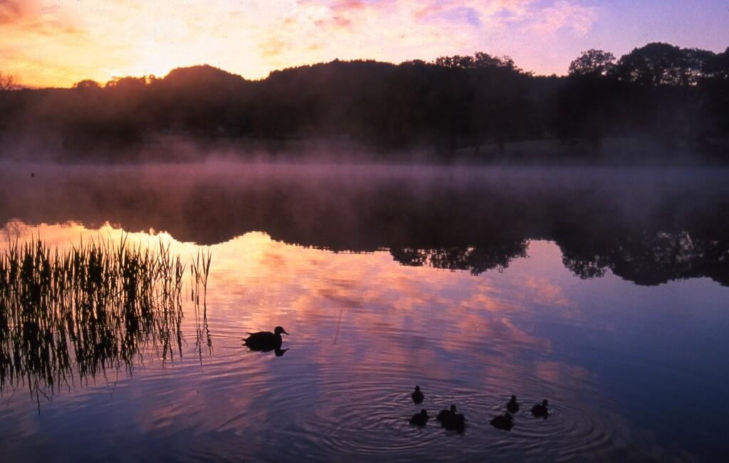 エスウエィト湖の朝焼け