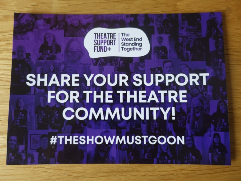 SHARE YOUR SUPPORT FOR THE THEATRE COMMUNITY