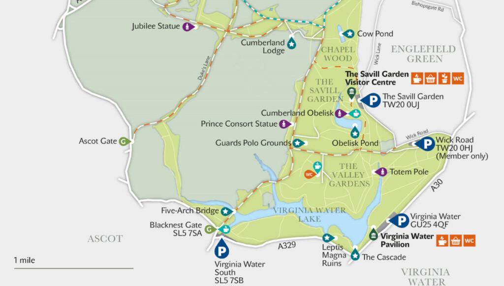 ウィンザー・グレート・パークの地図