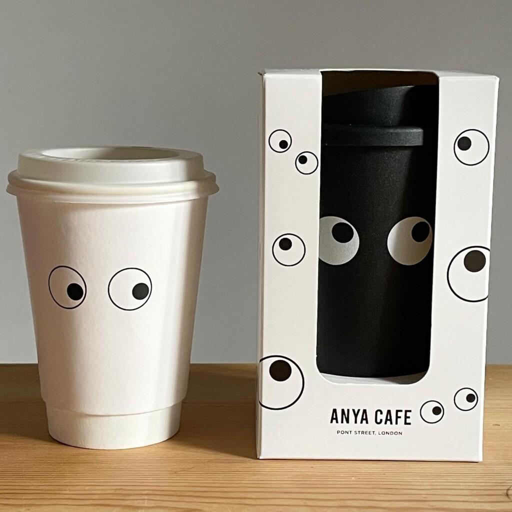 ペーパーカップとリサイクルプラスチックのEyes Coffee Cup