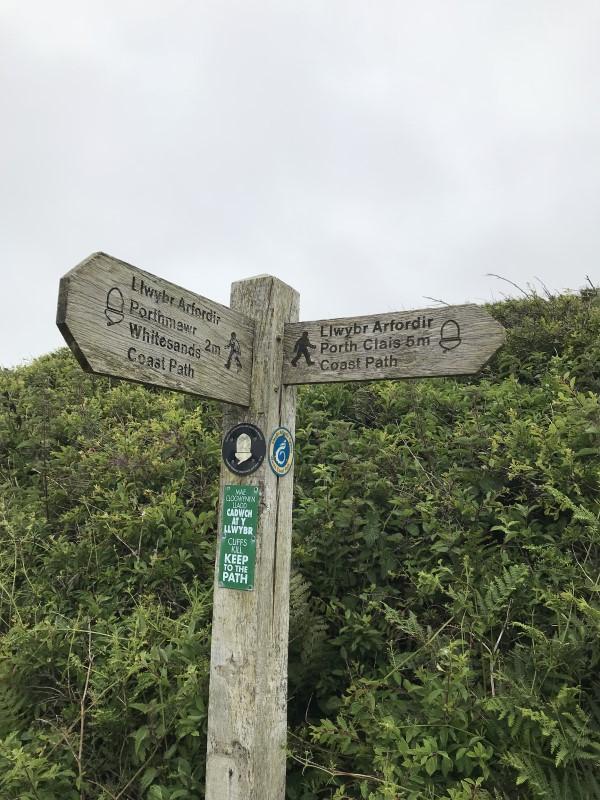 ウォーキングコースの標識