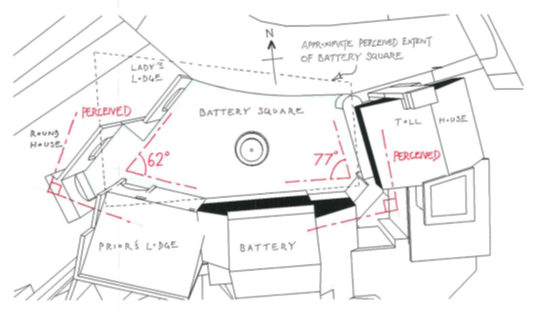 バッテリー広場の平面図