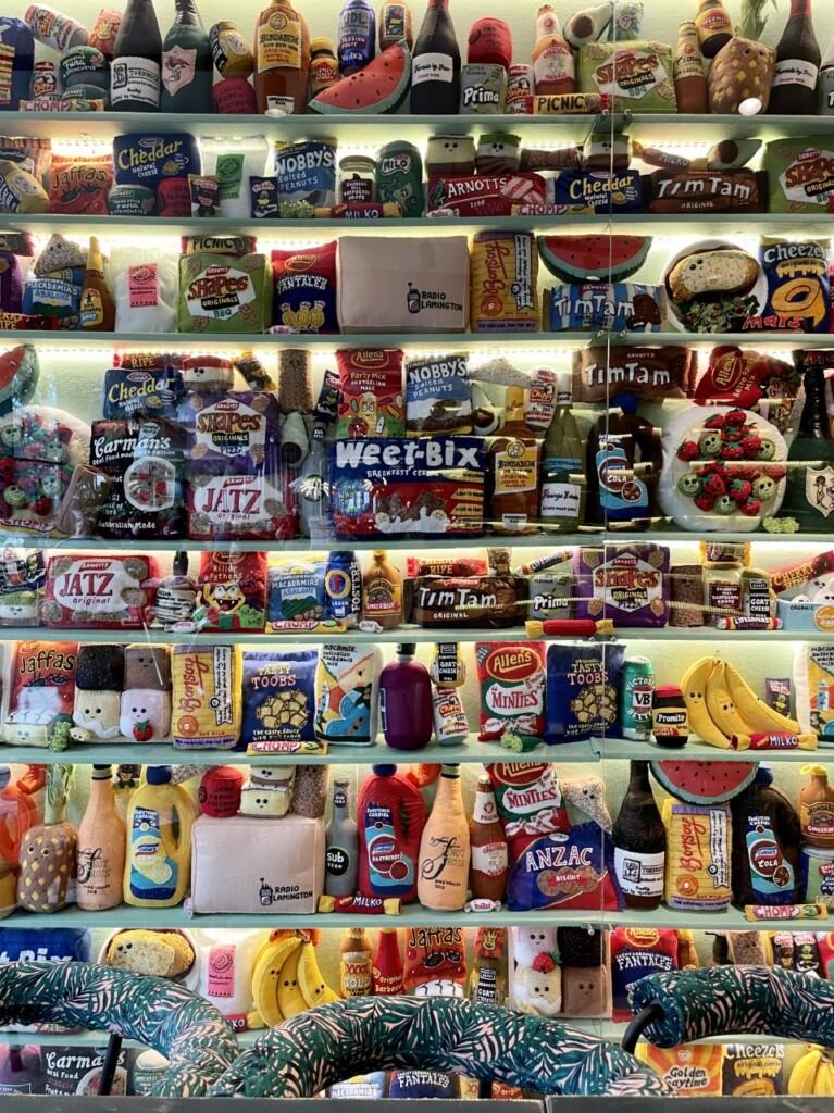 フェルトで作られた「スーパーマーケット」