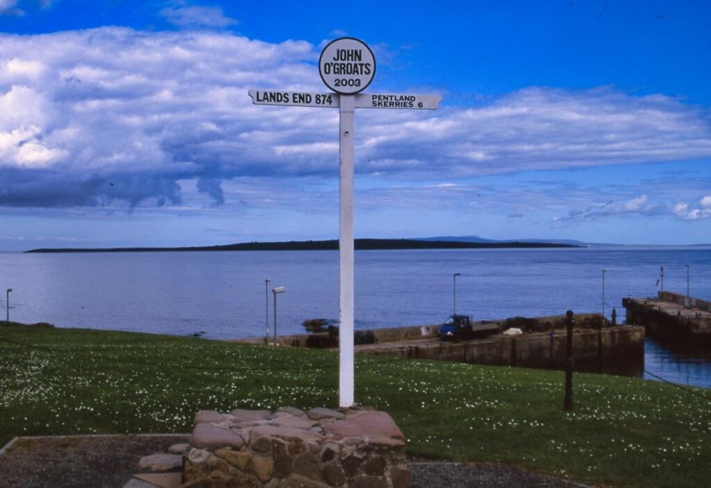 グレートブリテン島最北端の標識