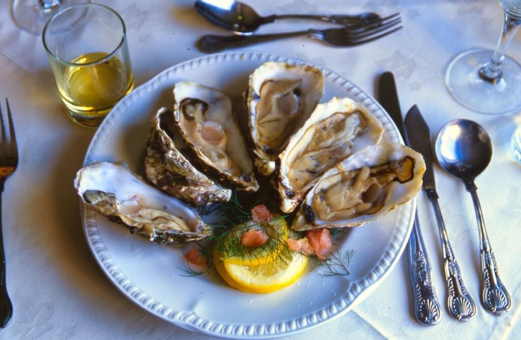 アイラ島のレストランで出された牡蠣