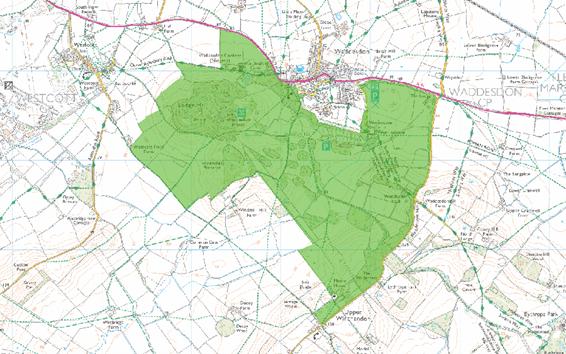 ワデスドンマナーの敷地地図