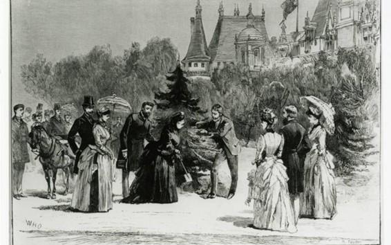 植樹する当時のヴィクトリア女王