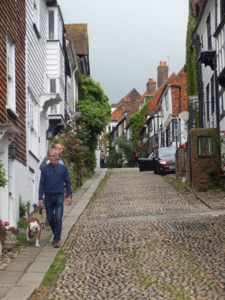 石畳の通りのライの街