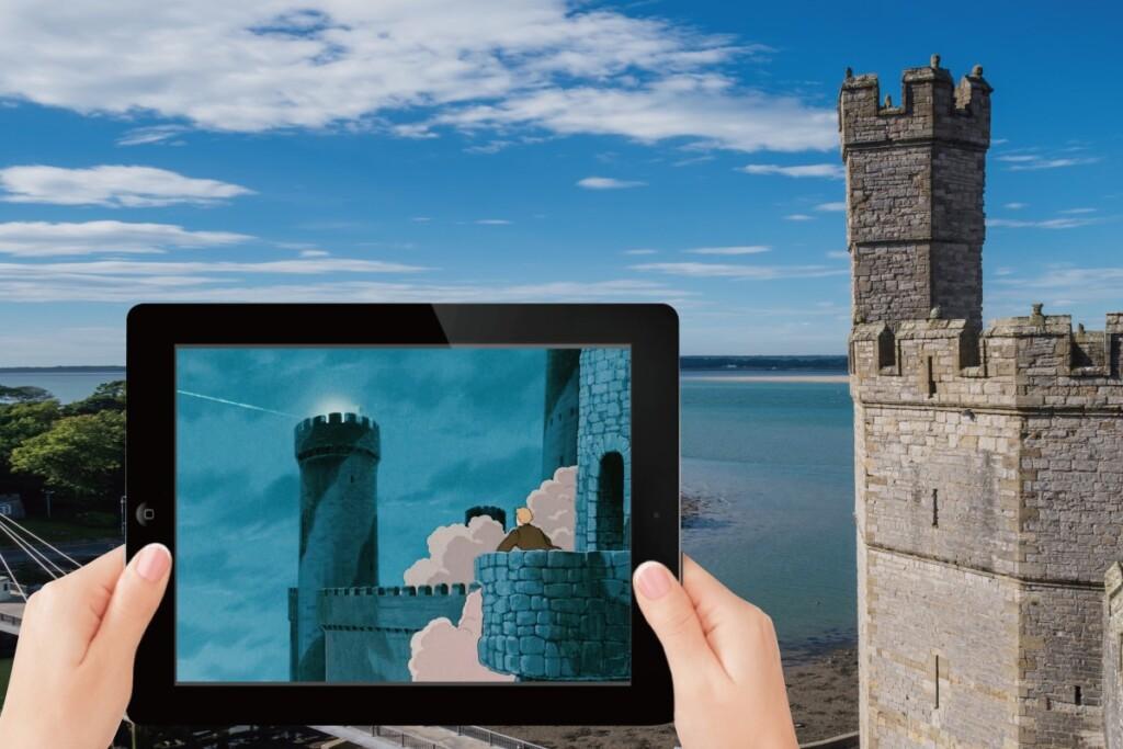 カーナーヴォン城と天空の城ラピュタのシーン