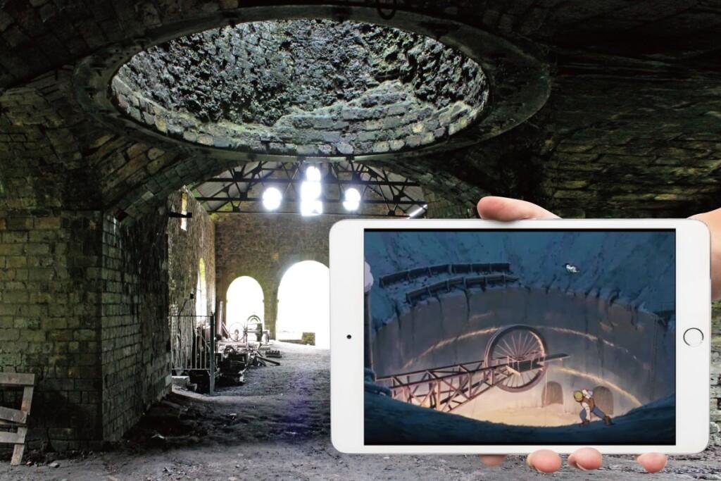 ブレナヴォン製鉄所と天空の城ラピュタのシーン
