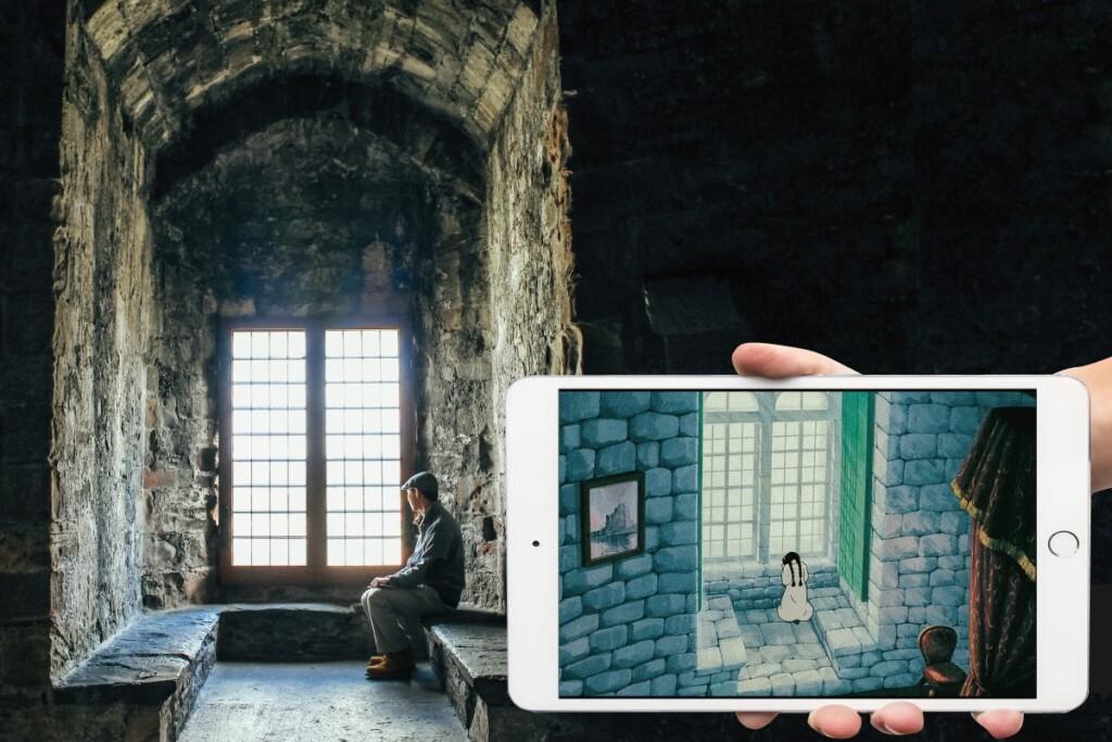 コンウィ城と天空の城ラピュタのシーン